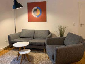 stay4business | Wohnen auf Zeit | voll moeblierte Wohnung in Mannheim | Wohnzimmer