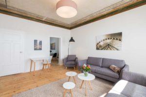 stay4business | Wohnen auf Zeit | voll moeblierte Wohnung in Mannheim | Wohnzimmer 2